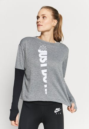 TOP CREW - Sports shirt - iron grey/black
