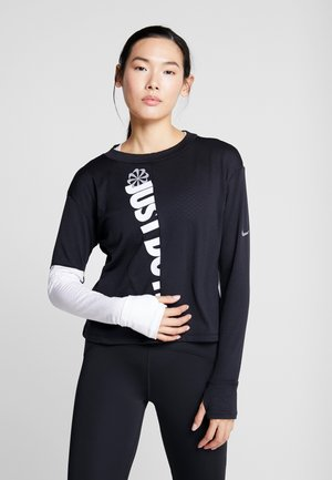 TOP CREW - Sports shirt - black/white/silver