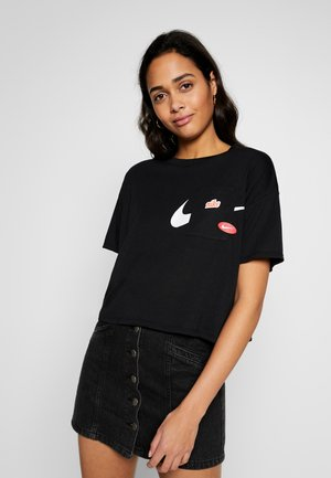 ICON CLASH WOW - T-shirt imprimé - black/white