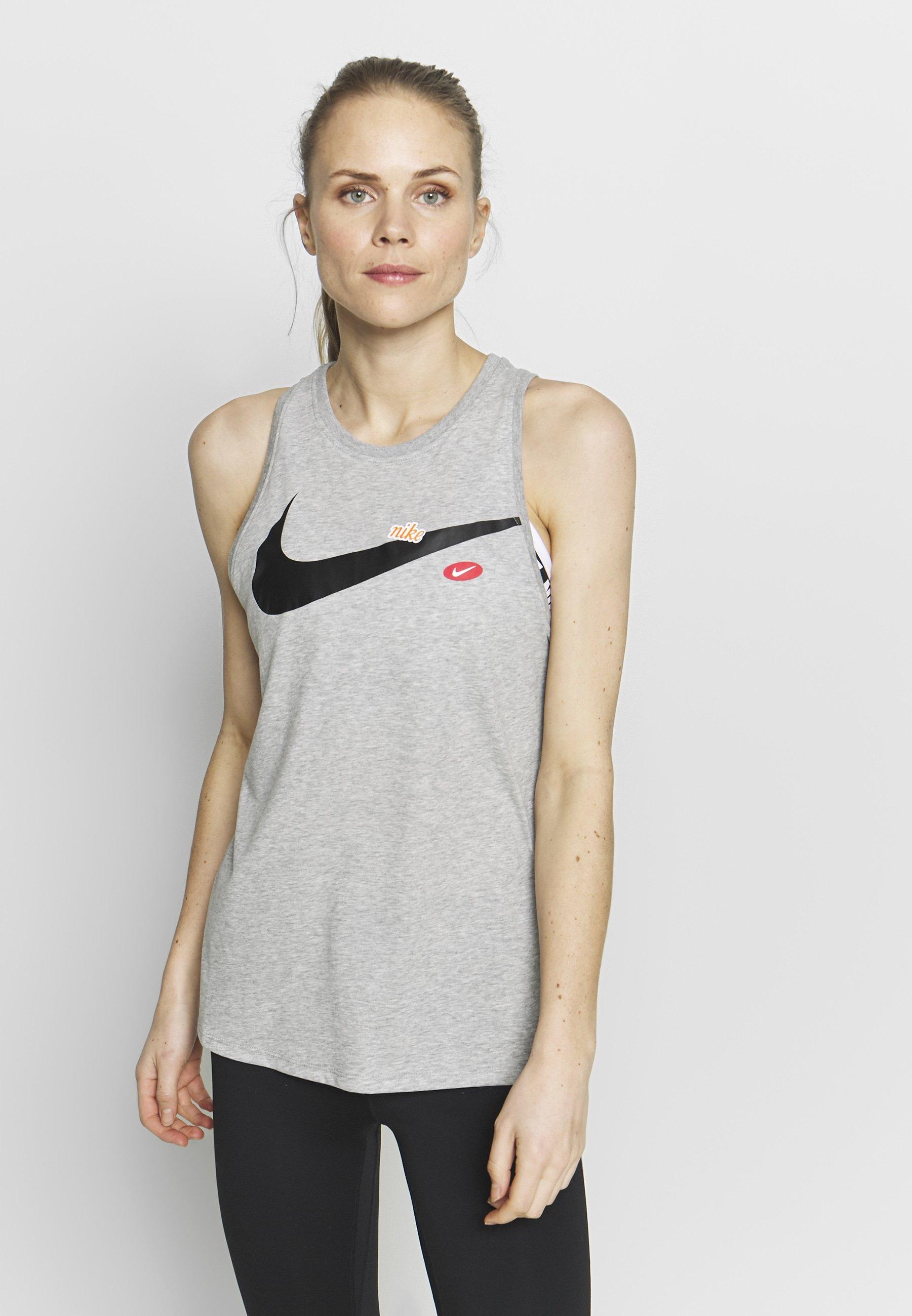 Nike Performance DRY TOM TANK - Koszulka sportowa - grey heather