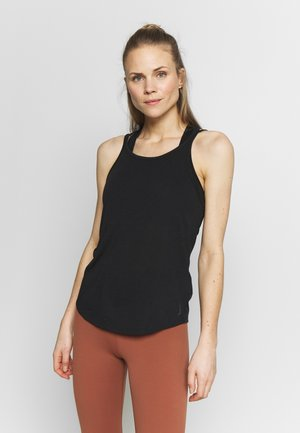 YOGA STRAPPY TANK - Topper - black
