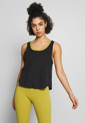 YOGA LUXE TANK - Camiseta de deporte - black/dark smoke grey