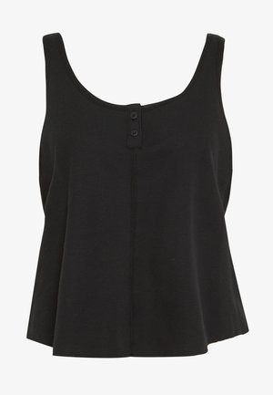 YOGA LUXE TANK - Sports shirt - black/dark smoke grey