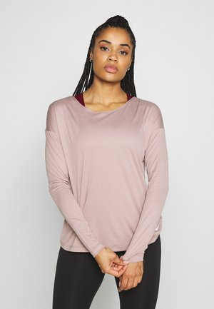 DRY ELASTIKA - Sports shirt - smokey mauve/white/pure platinum