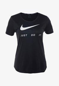Nike Performance - RUN - T-shirts med print - black/white - 4