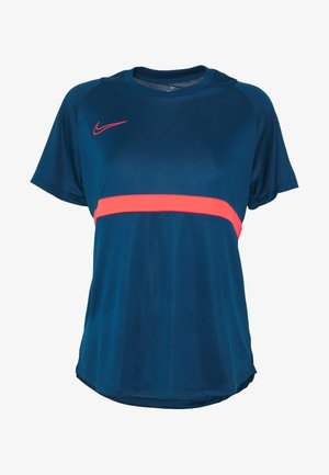 DRY - T-shirt med print - valerian blue/laser crimson