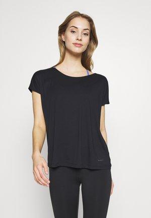 DRY ELASTIKA - Print T-shirt - black/thunder grey