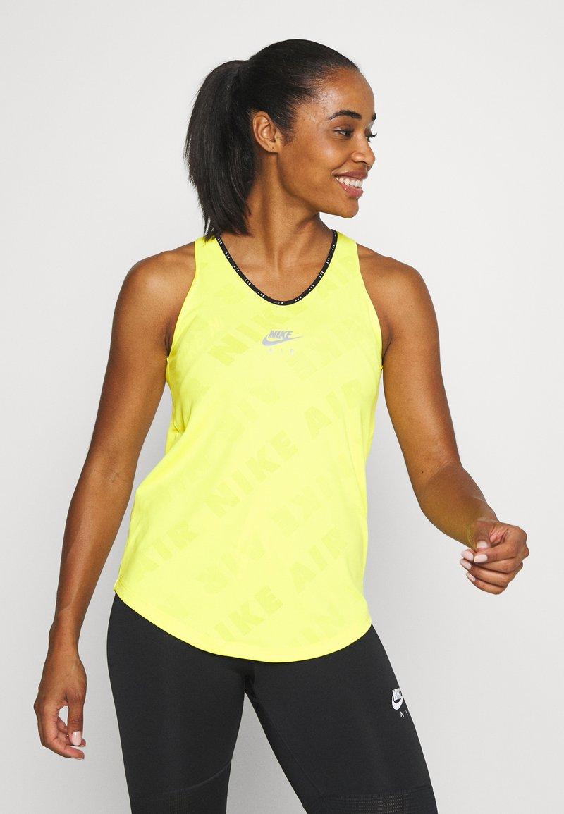 Nike Performance - AIR TANK - Treningsskjorter - opti yellow/reflective silver