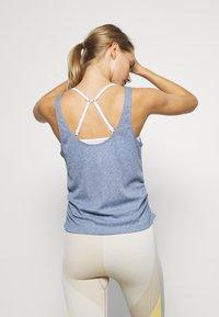 Nike Performance - YOGA RUCHE TANK - Camiseta de deporte - diffused blue/obsidian mist - 2
