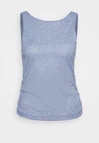 Nike Performance - YOGA RUCHE TANK - Camiseta de deporte - diffused blue/obsidian mist - 4