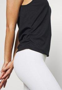 Nike Performance - YOGA RUCHE TANK - Sportshirt - black - 3