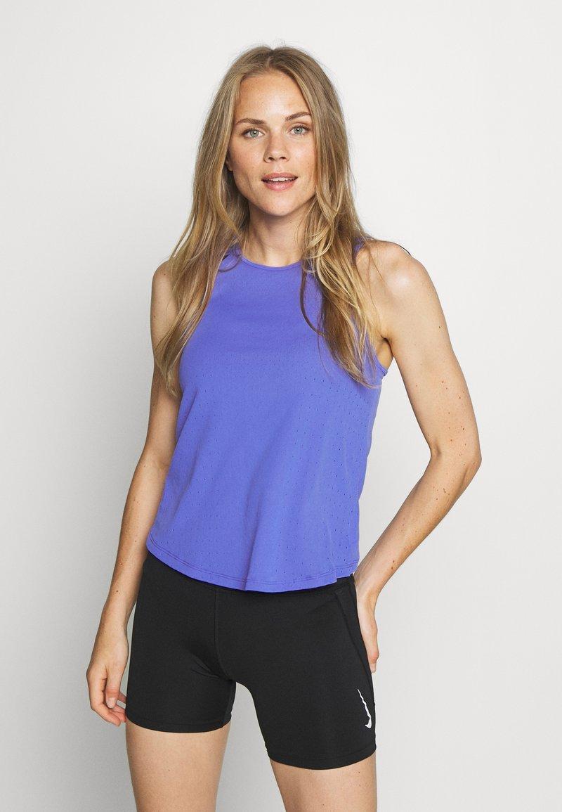 Nike Performance - AEROSWIFT SINGLET - Sports shirt - sapphire/black