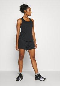 Nike Performance - DRY VICTORY ELASTIKA TANK - Sports shirt - black/reflective silver - 1