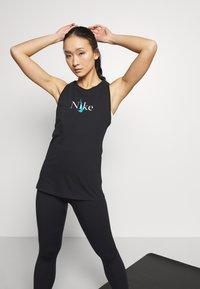 Nike Performance - DRY TANK YOGA - Treningsskjorter - black - 0