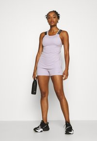 Nike Performance - CROP TANK - Sports shirt - photon dust/infinite lilac/metallic silver - 1