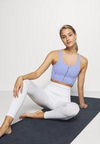 Nike Performance - YOGA LUXE CROP TANK - Sports bra - light thistle/sapphire - 1