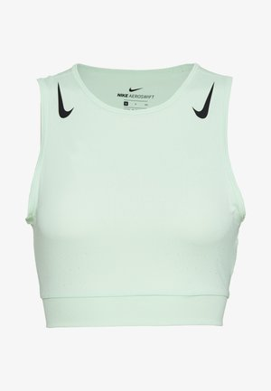 AEROSWIFT CROP - Sports shirt - vapor green/black