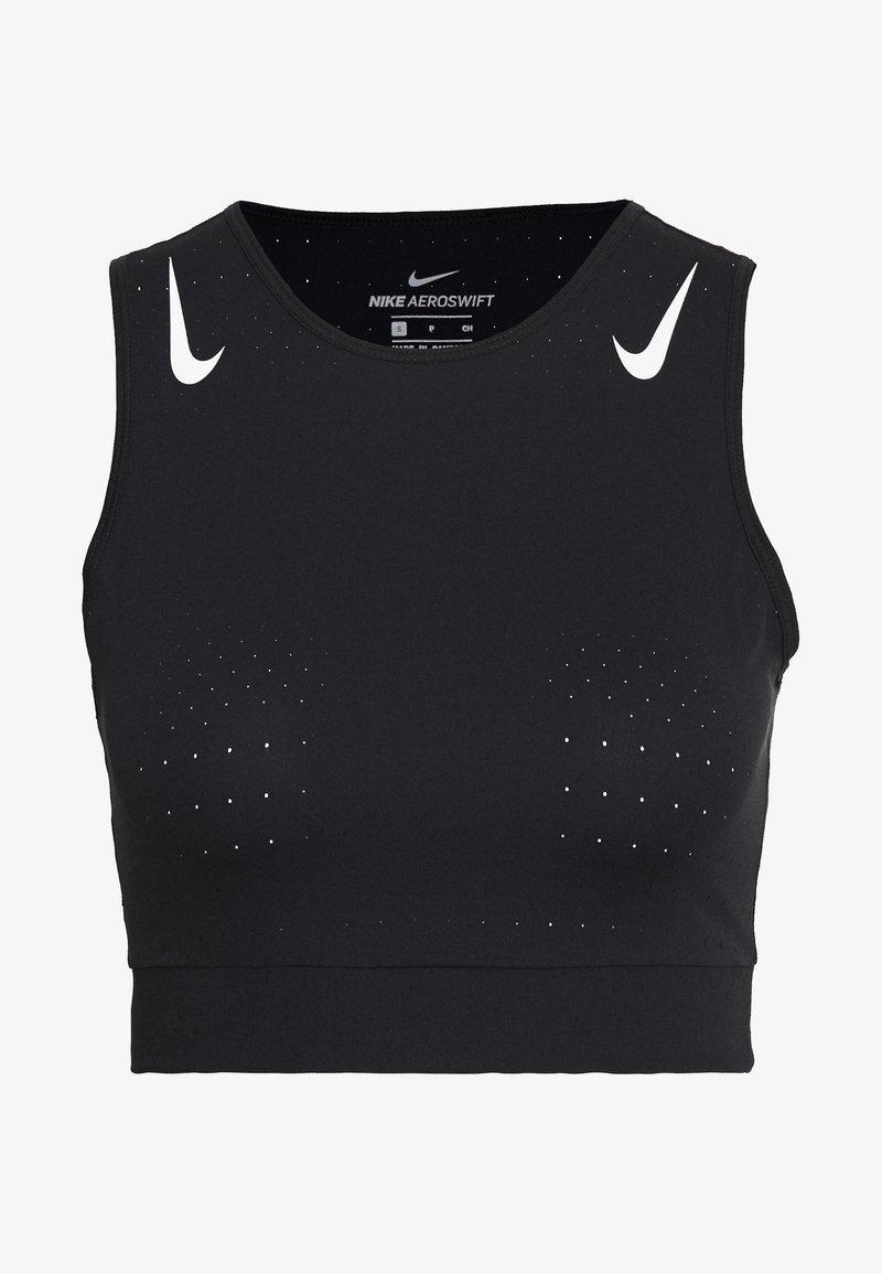 Nike Performance - AEROSWIFT CROP - Camiseta de deporte - black/white