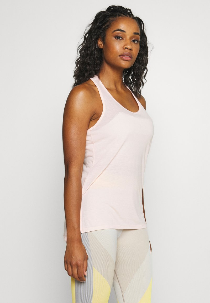Nike Performance - YOGA LAYER TANK - Sports shirt - washed coral/pink quartz