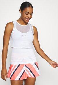 Nike Performance - DRY TANK  - Sports shirt - white/black - 0