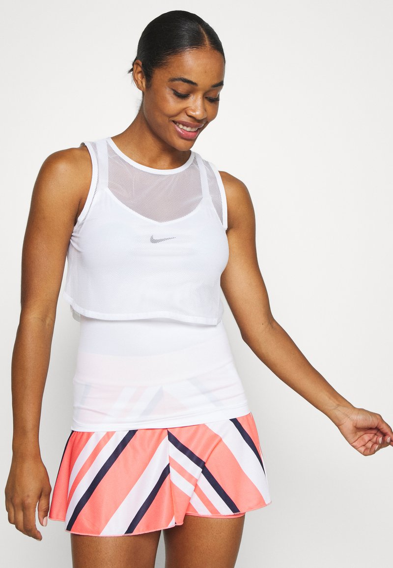 Nike Performance - DRY TANK  - Sports shirt - white/black