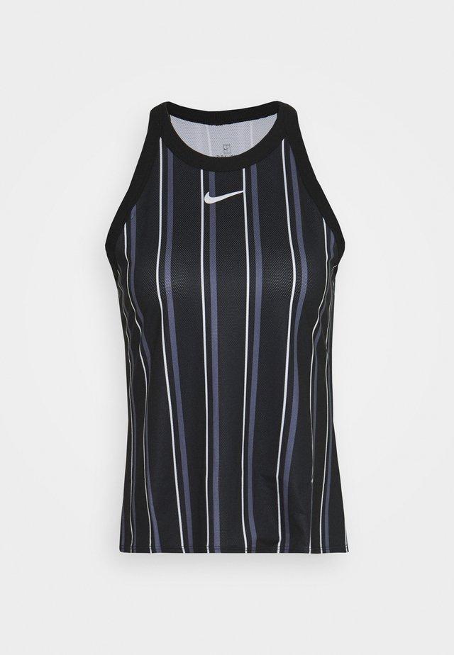 DRY TANK PRINTED - Sportshirt - black/white