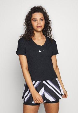 DRY TOP - T-shirt imprimé - black/white