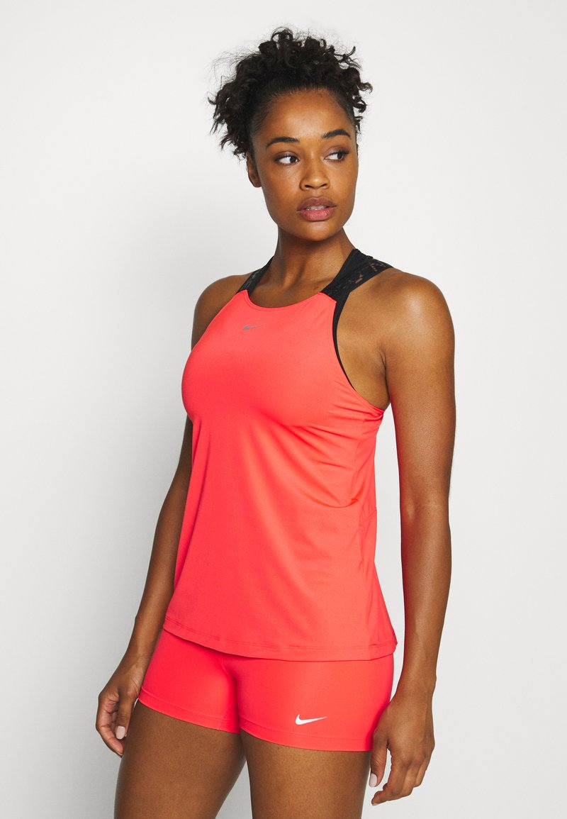 Nike Performance - ELASTIKA TANK - Funktionsshirt - laser crimson/black/metallic silver
