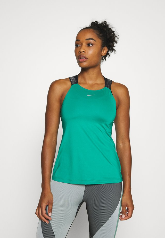 ELASTIKA TANK - Sports shirt - neptune green/black/metallic silver