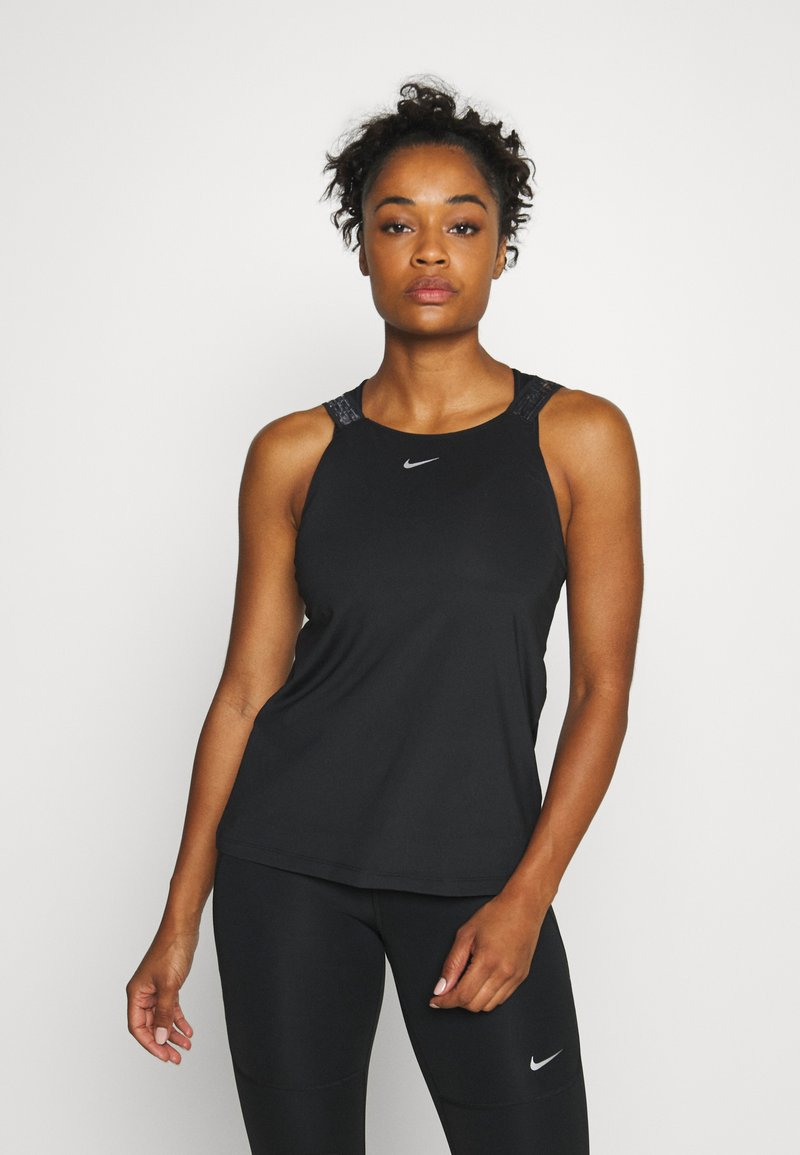 Nike Performance - ELASTIKA TANK - Sports shirt - black/silver