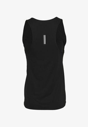 CITY SLEEK TANK - Sports shirt - black/silver