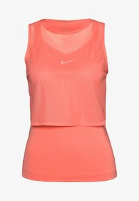 Nike Performance - DRY TANK - Sports shirt - sunblush/white - 3