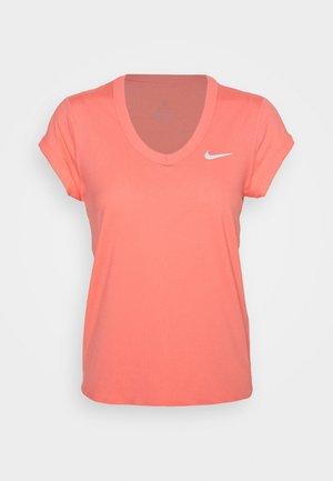 DRY  - Basic T-shirt - sunblush/white