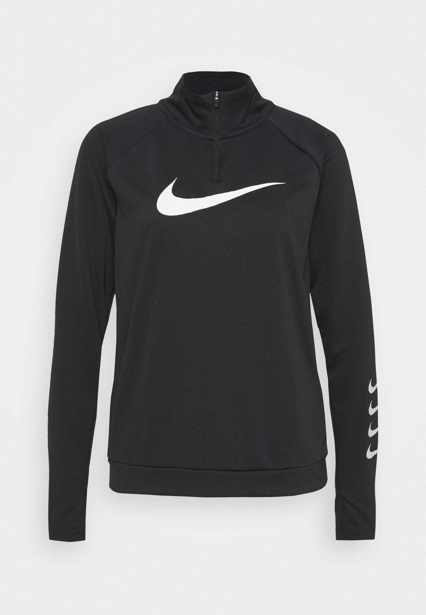 RUN T shirt de sport blackgrey fogwhite