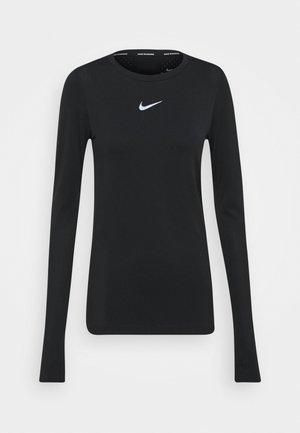 INFINITE - T-shirt sportiva - black/reflective silver