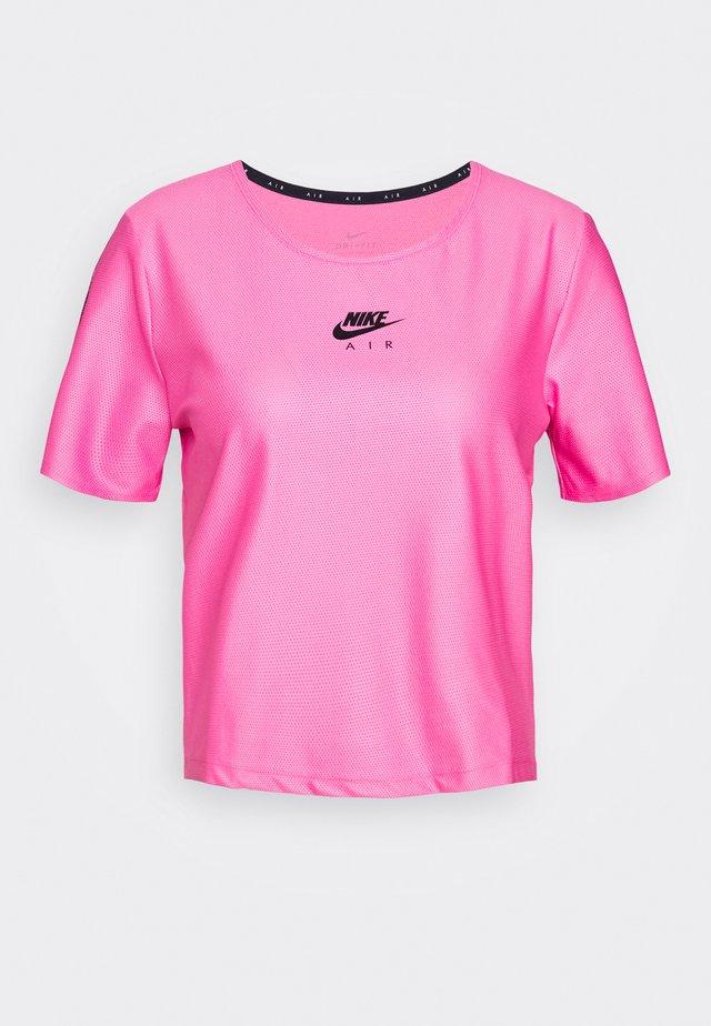 AIR - T-shirt print - pinksicle/black