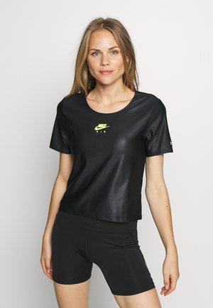 AIR - Camiseta estampada - black/volt