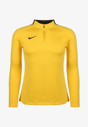 DRY ACADEMY 18 DAMEN - Long sleeved top - tour yellow anthracite black