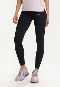Nike Performance - POWER ESSENTIAL DRI-FIT - Tights - black/reflective silver - 0