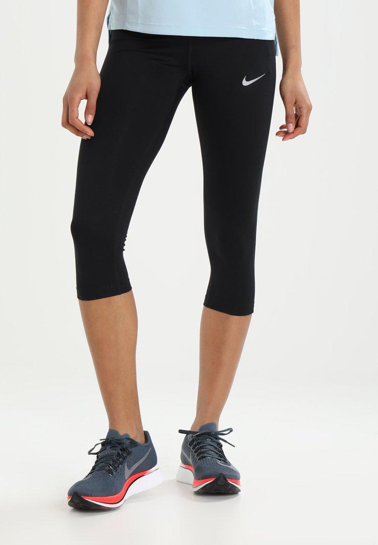 Nike Performance - POWER ESSENTIAL DRIFIT - 3/4 sports trousers - black/silver