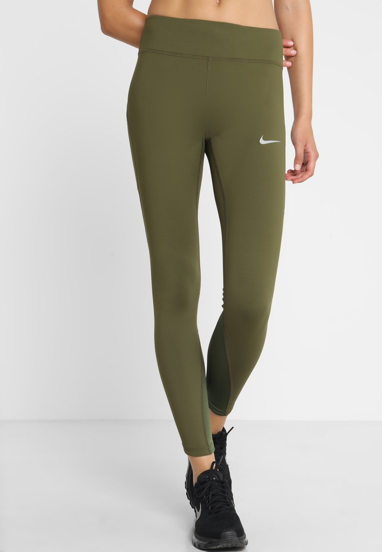 Nike Performance - POWER EPIC LUX - Tights - olive canvas