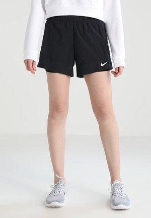 FLEX 2-IN-1 SHORT - Sports shorts - black/white