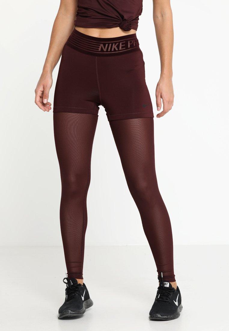 Nike Performance - DELUXE  - Leggings - burgundy crush/black