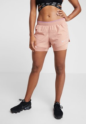 10K 2IN1 SHORT - Sports shorts - rose gold/active fuchsia/wolf grey