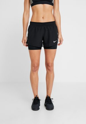 10K 2IN1 SHORT - Pantalón corto de deporte - black/wolf grey
