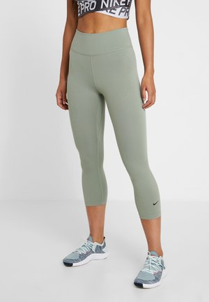 NIKE ONE TIGHT CAPRI - Tights - jade stone/black