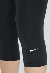 Nike Performance - NIKE ONE TIGHT CAPRI - Tights - black/white - 5