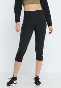 Nike Performance - NIKE ONE TIGHT CAPRI - Tights - black/white - 0