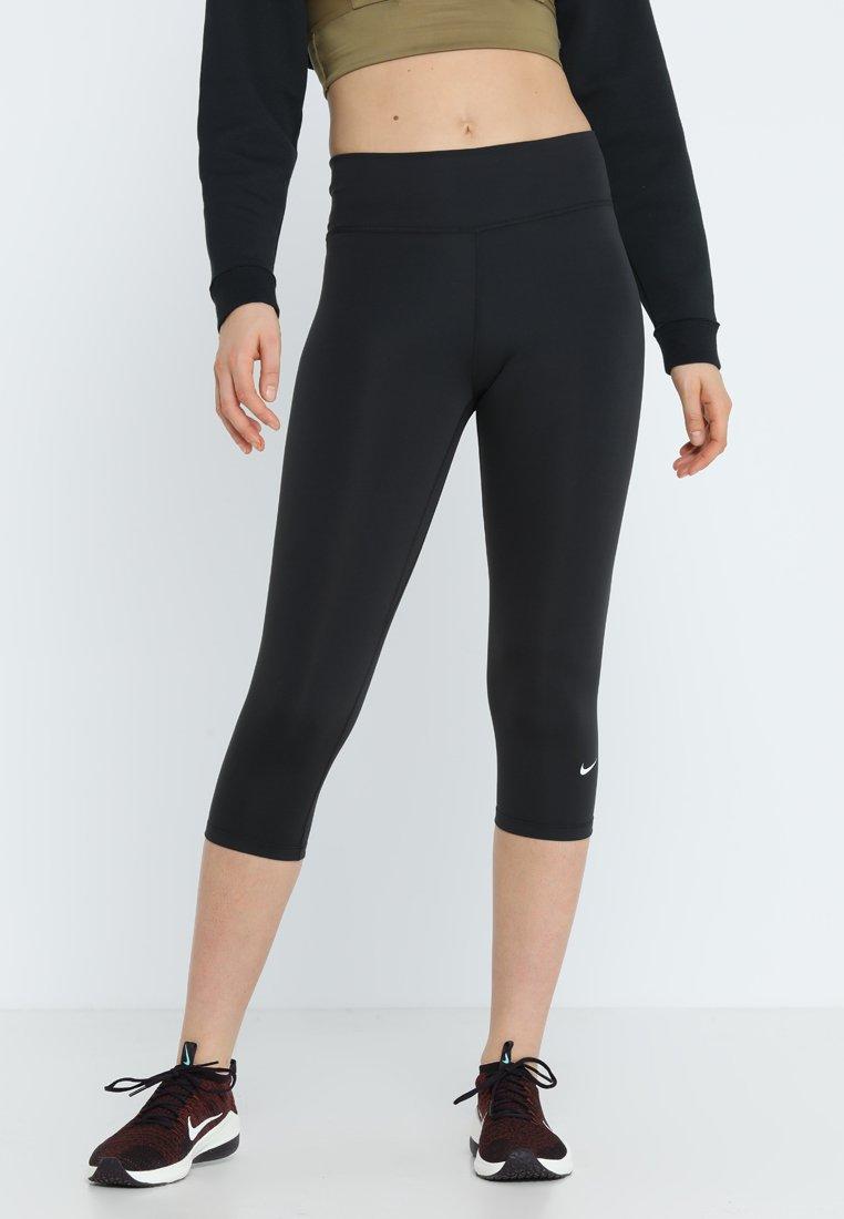 Nike Performance - NIKE ONE TIGHT CAPRI - Tights - black/white
