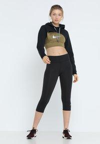 Nike Performance - NIKE ONE TIGHT CAPRI - Tights - black/white - 1
